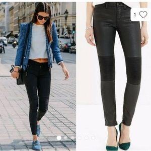 Madewell skinny black moto zip jeans 26